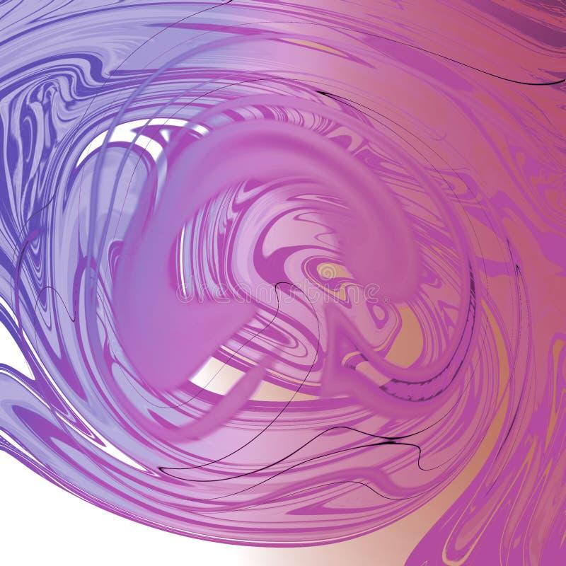 与油画条纹的大理石液体抽象背景 库存例证