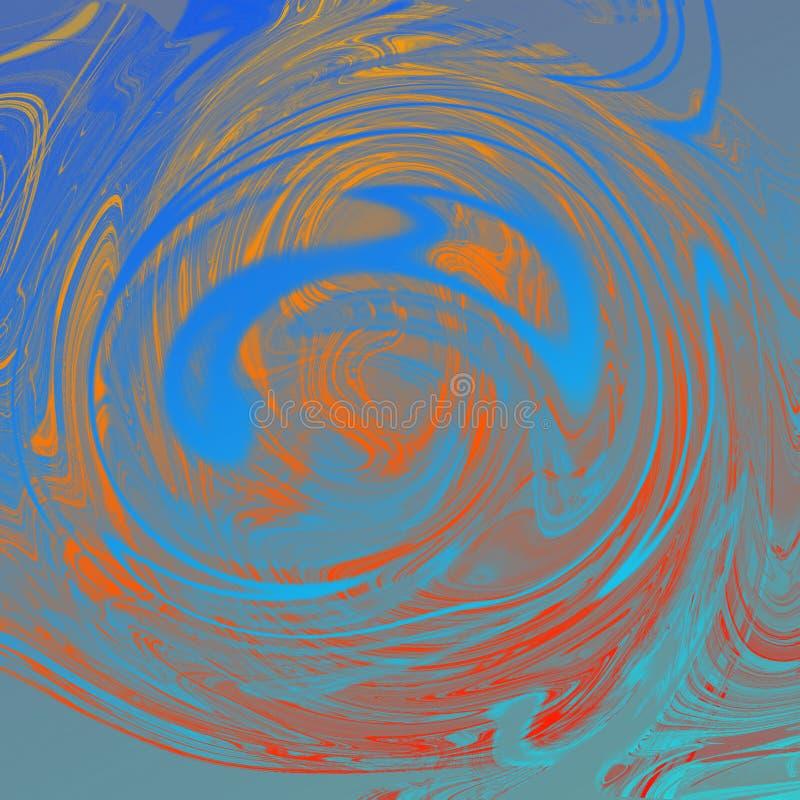 与油画条纹的大理石液体抽象背景 皇族释放例证