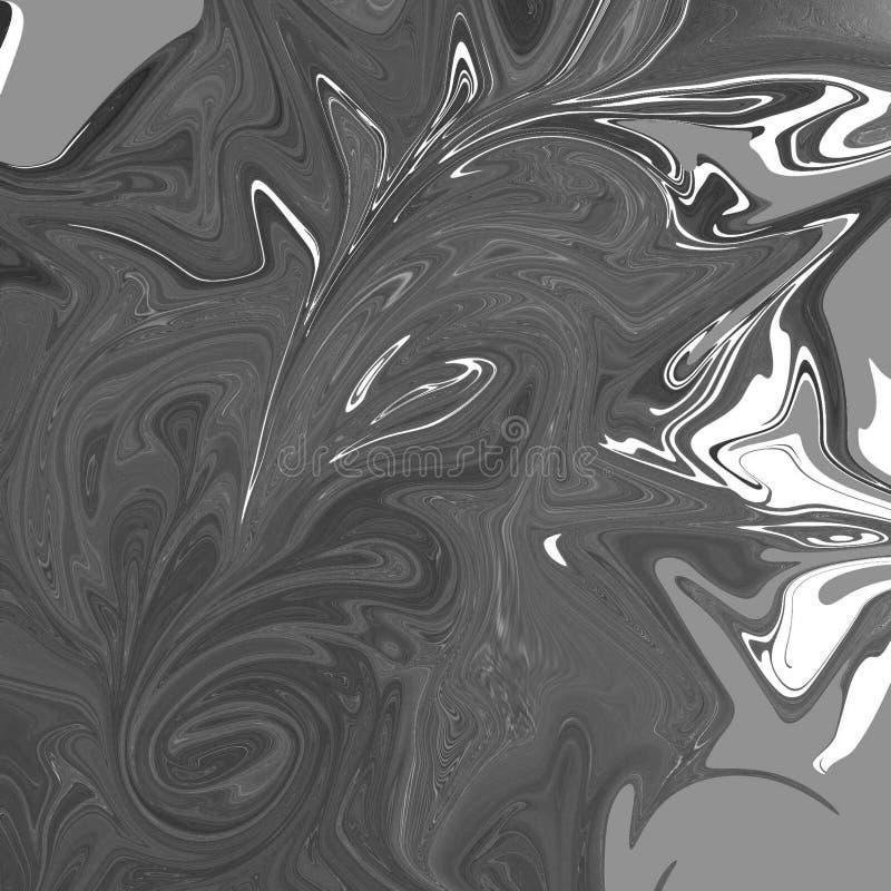 与油画条纹的液体抽象背景 向量例证
