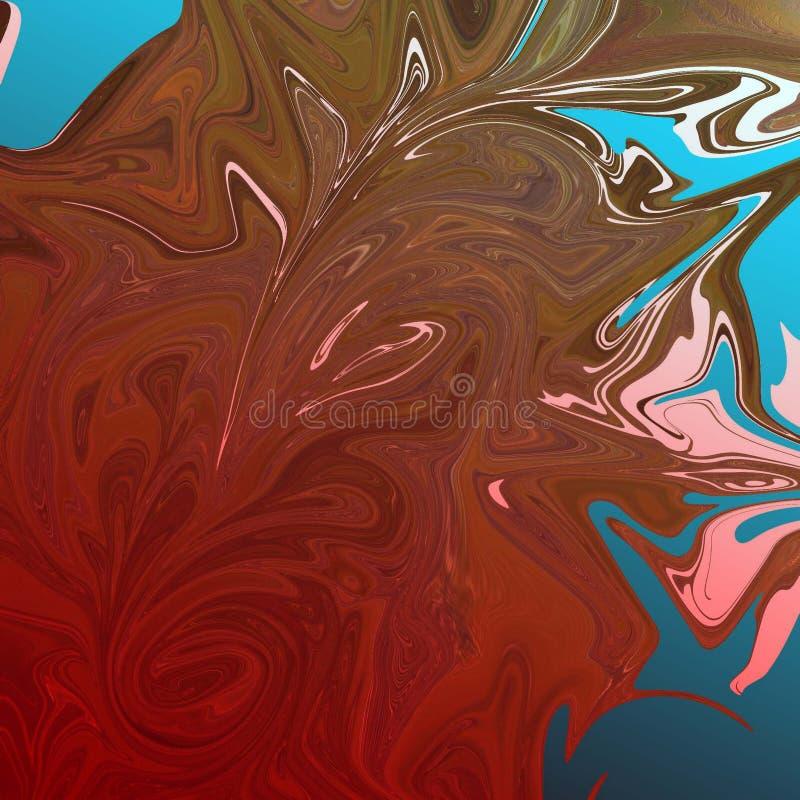 与油画条纹的液体抽象背景 库存例证