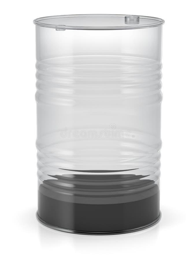与油的透明油桶 向量例证