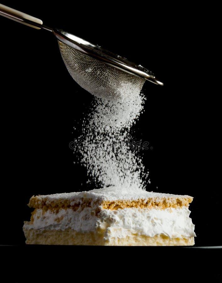 与油酥点心层数的奶油馅饼  免版税图库摄影