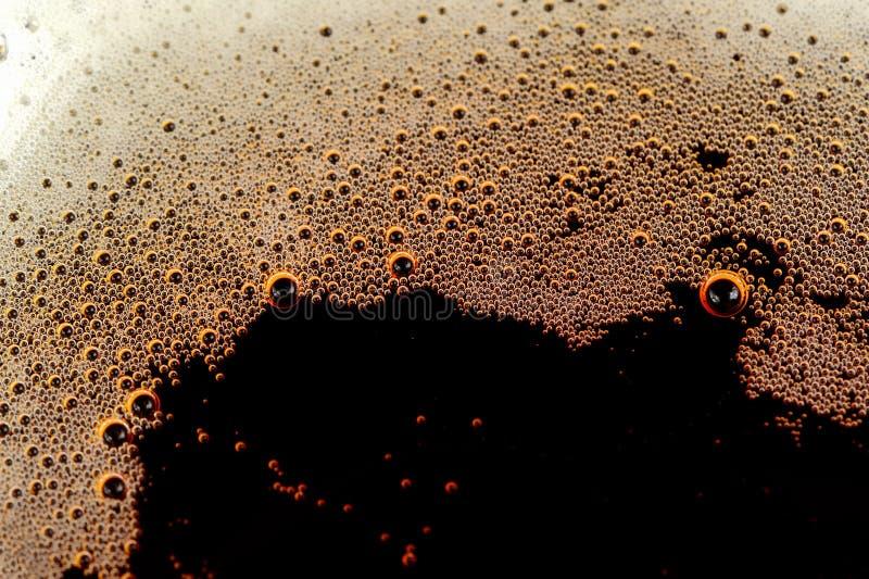 与泡影的泡沫腾涌的软饮料 免版税库存图片