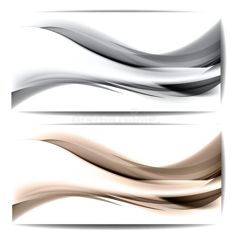 与波浪和线的抽象背景 免版税图库摄影