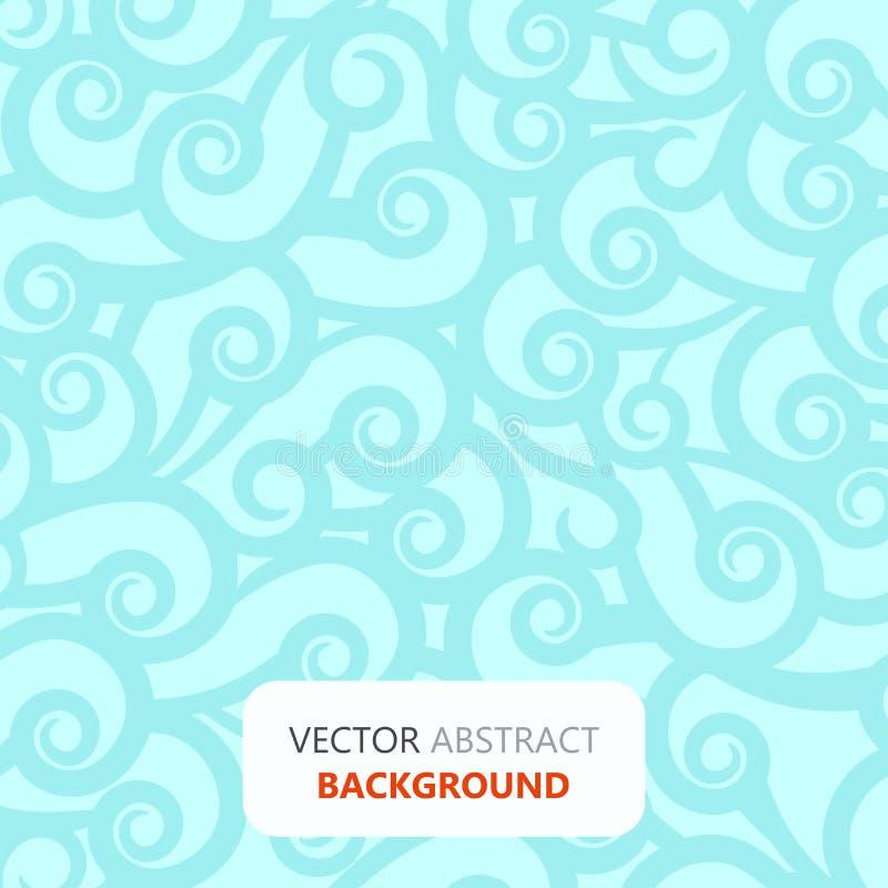 与波浪明亮的蓝绿色纹理-传染媒介墙纸例证的轻的抽象背景样式 皇族释放例证