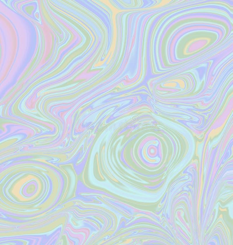 与波浪液体作用的摘要五颜六色的淡色背景 库存例证