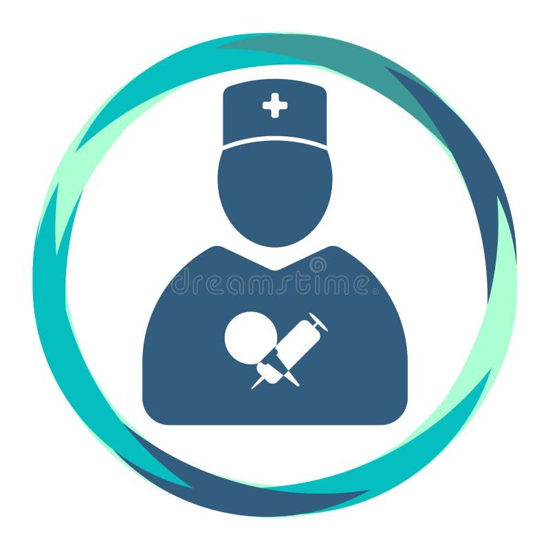 与注射器和灌肠的医生象 向量例证