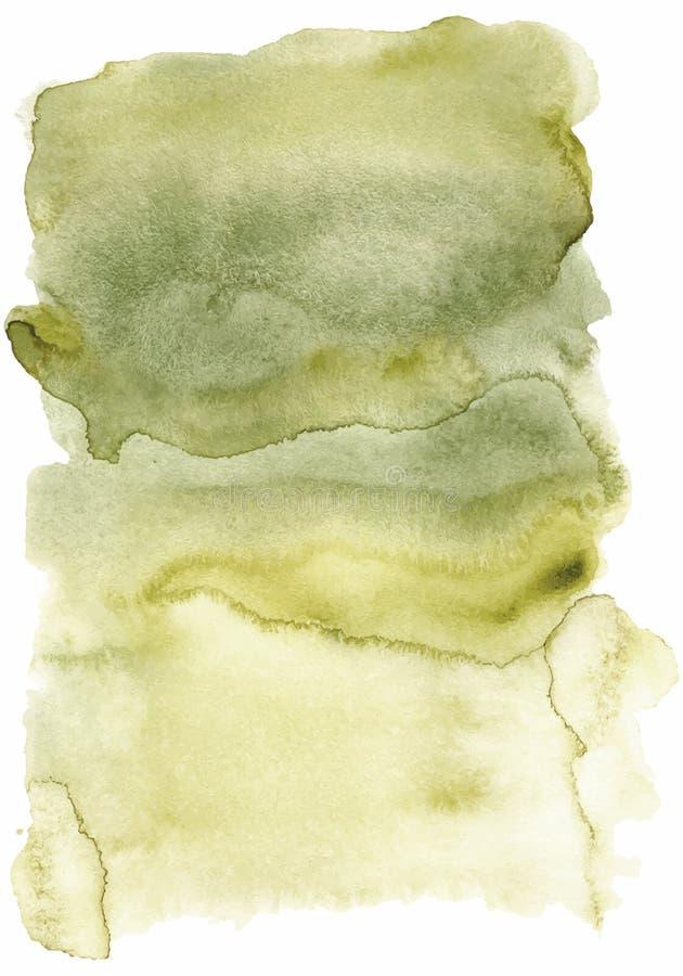 与洗涤的水彩抽象绿色背景导航例证 向量例证