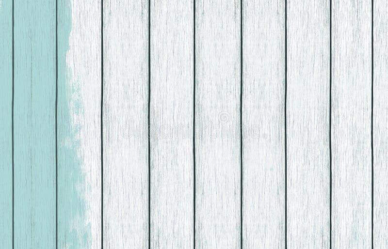 与浅兰的颜色油漆的被绘的木背景墙纸 免版税图库摄影