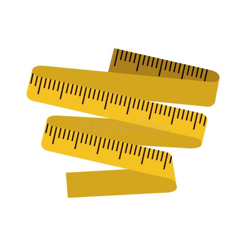 与测量的磁带的剪影颜色 皇族释放例证