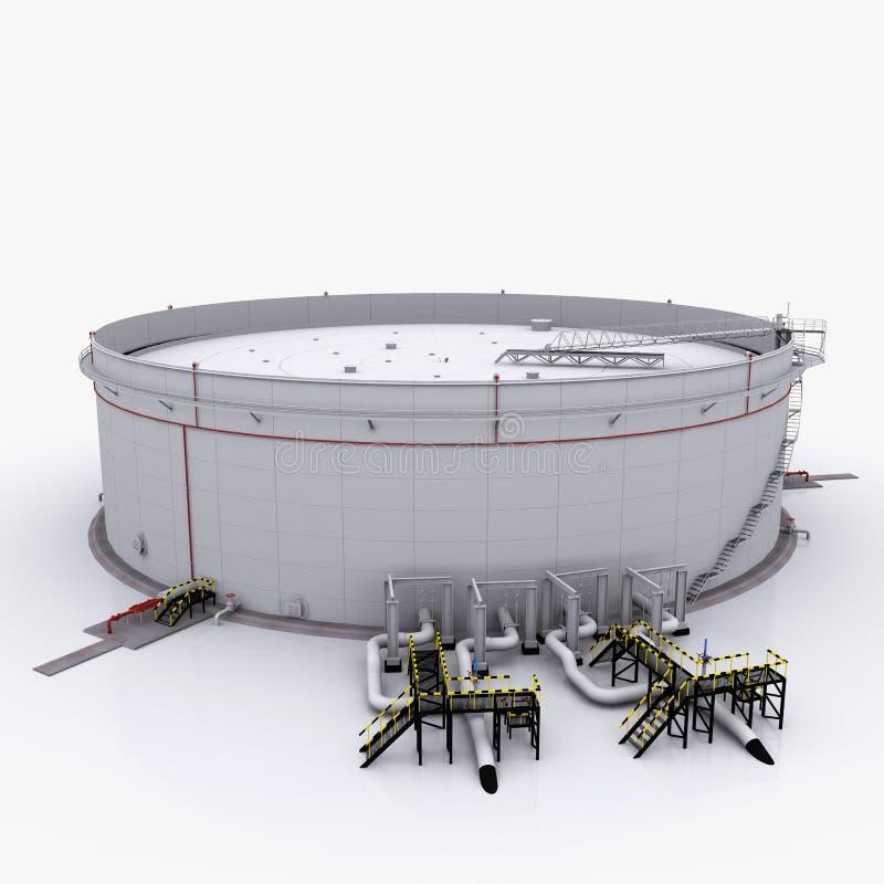与浮动的屋顶的大油箱 皇族释放例证