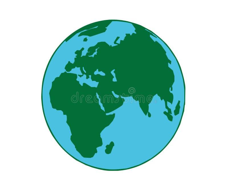 与海和土地的地球 免版税库存照片