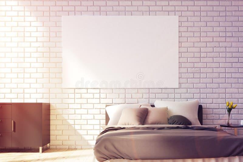 与海报的布朗床,被定调子 向量例证