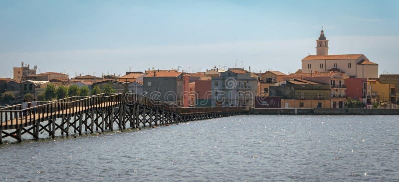 与海的Lesina高定义风景视图 图库摄影