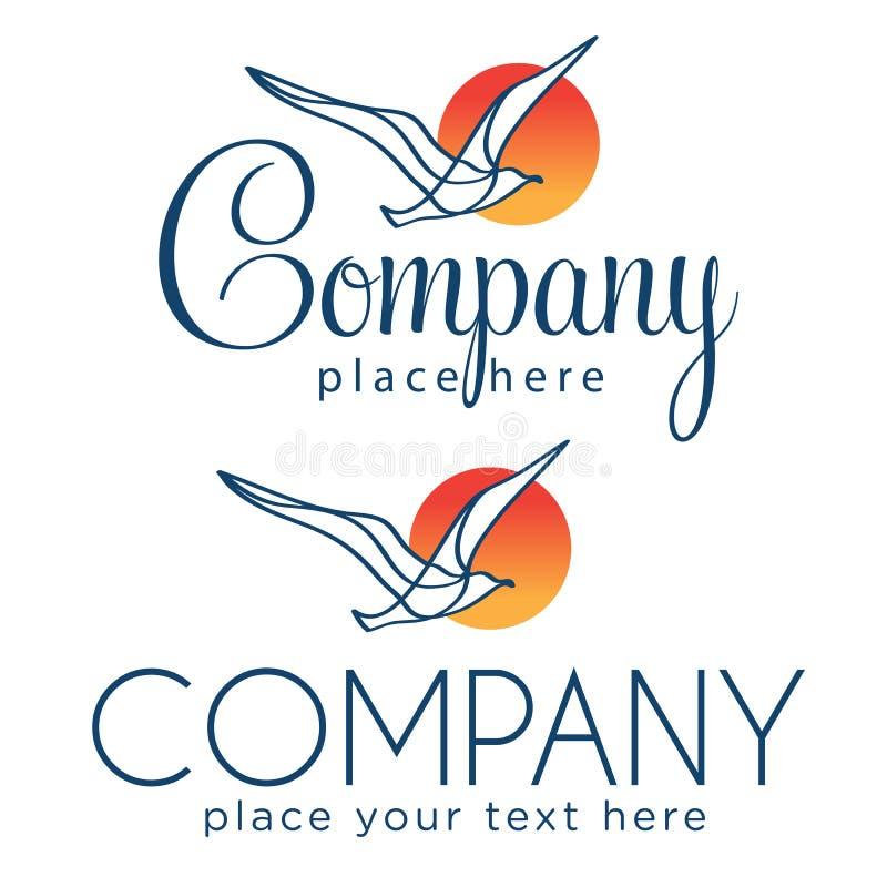 与海鸥的两个商标 免版税库存图片