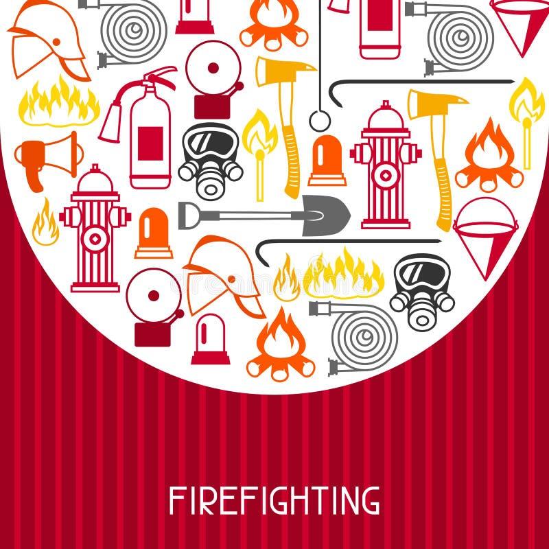 与消火项目的背景 消防设备 皇族释放例证