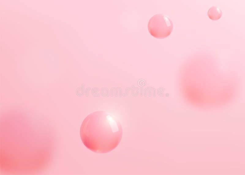 与液体流体的抽象桃红色背景秀丽的,化妆grafic设计模板 也corel凹道例证向量 向量例证