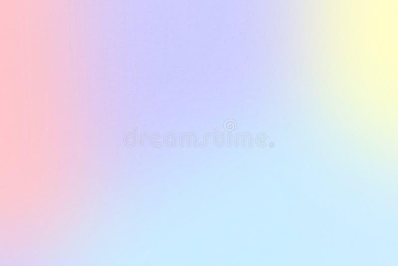 与淡色黄色,最大蓝色紫色,苍白深蓝,郁金香,瓜,不可思议的薄荷的颜色的彩虹淡色梯度墙纸背景, 库存例证