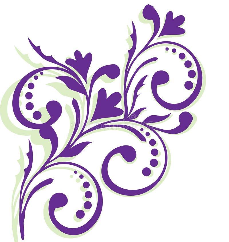 与淡紫色花的框架 皇族释放例证