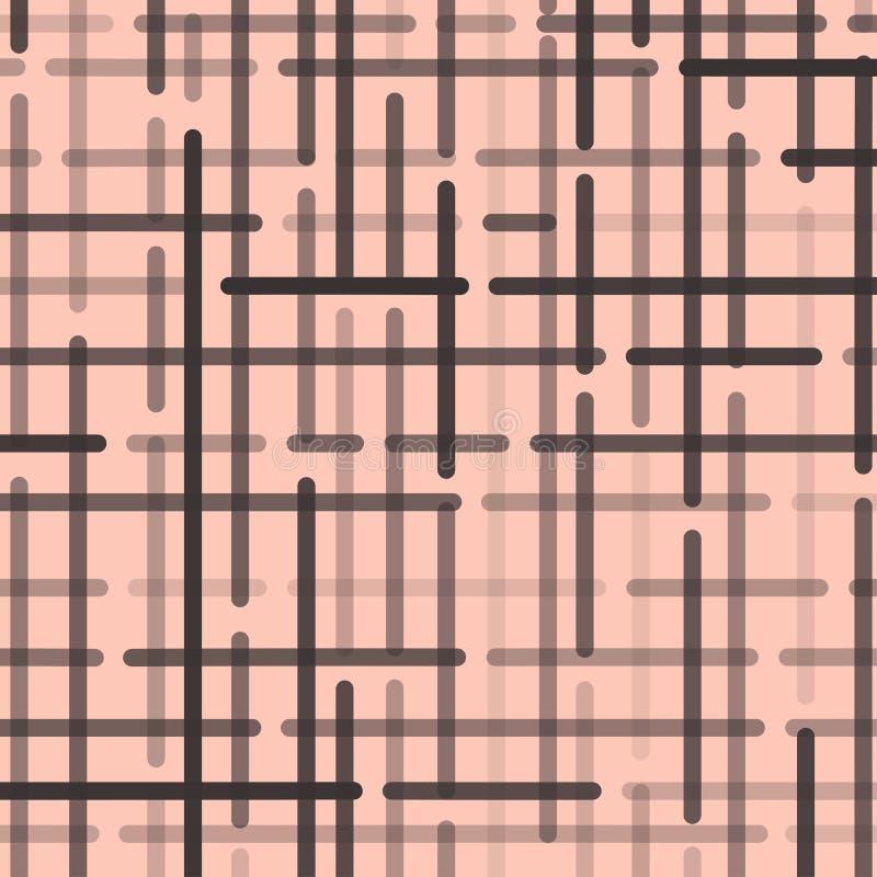 与深灰被环绕的线的抽象几何样式在浅粉红色的背景 ?? 向量例证