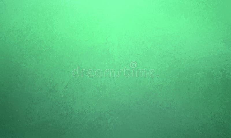 与深蓝灰色边界和葡萄酒纹理,梯度蓝色颜色的绿色背景设计 向量例证