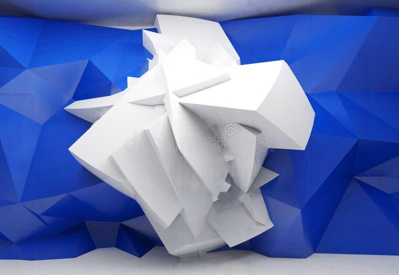 与混乱多角形结构的抽象3d背景 向量例证
