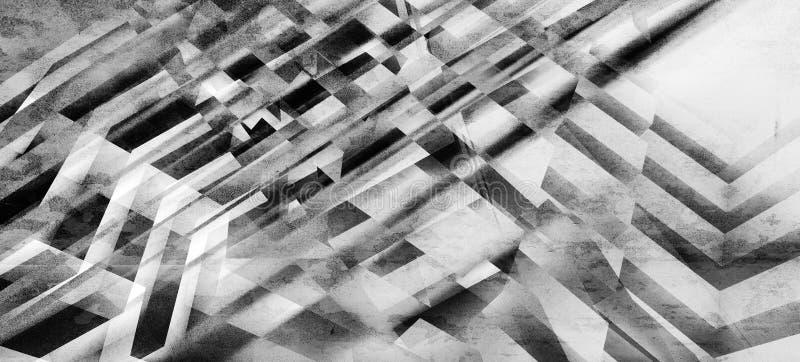 与混乱相交的条纹样式的背景 库存例证