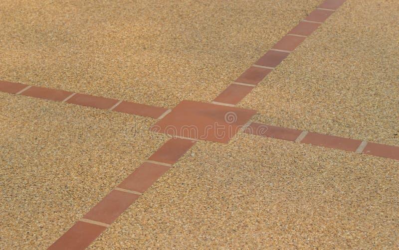 与混凝土和瓦片纹理的沙子石头 免版税库存照片