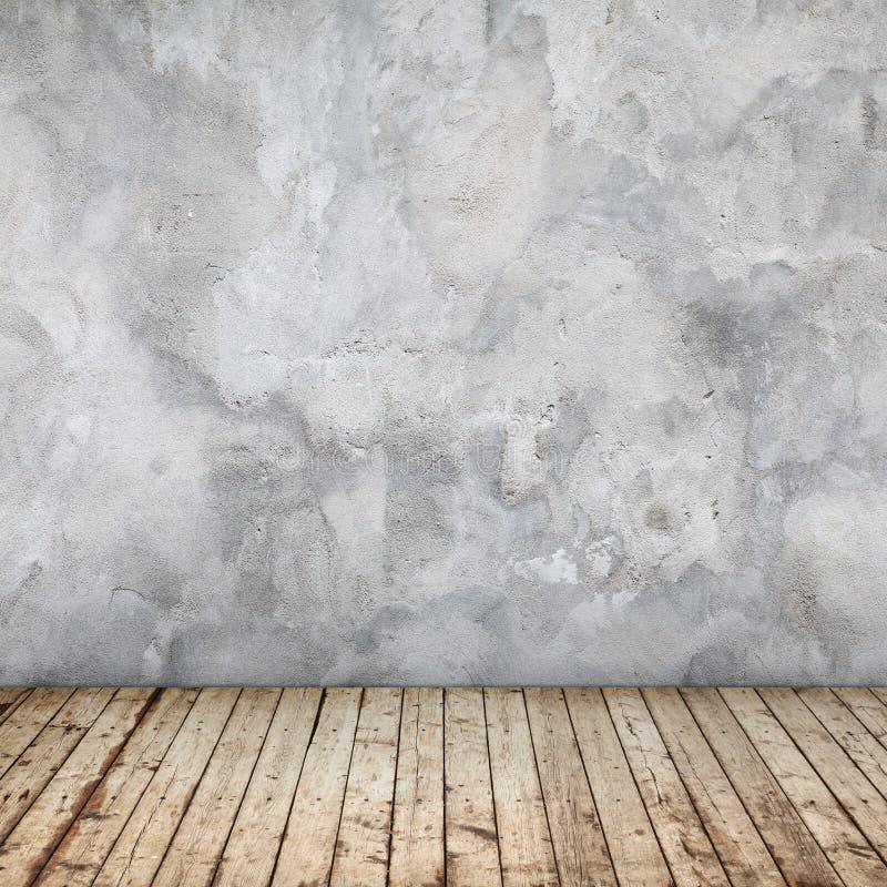 与混凝土墙的空的抽象内部 库存照片