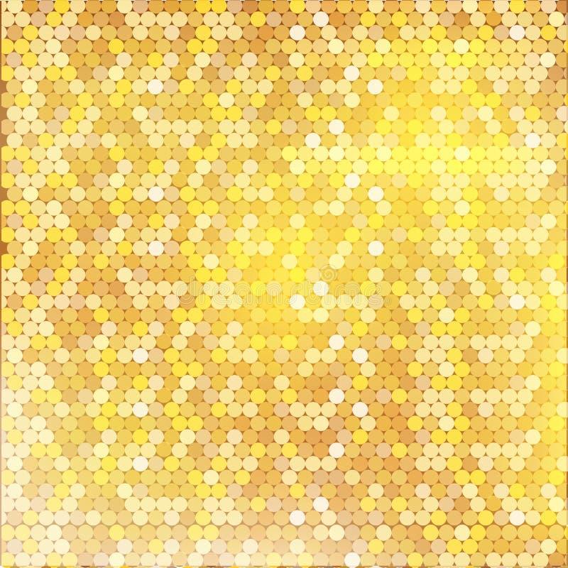 与混杂的小斑点纹理的豪华金黄样式 免版税库存图片