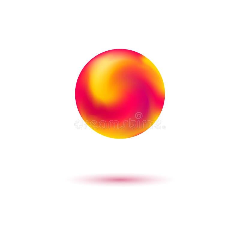 与混杂的颜色的独特的梯度滤网天体 向量例证