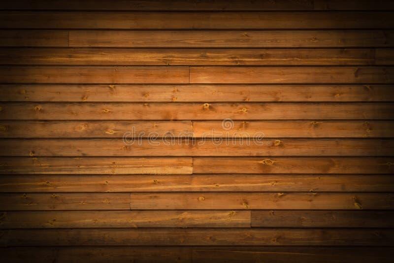与渐晕的木棕色板条作为背景 库存照片