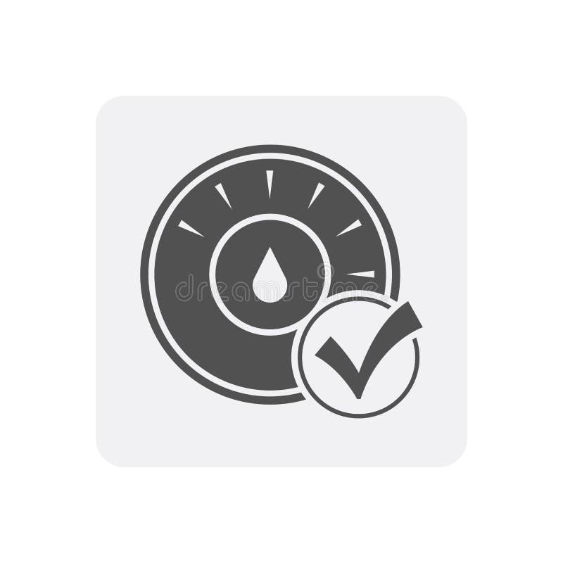 与温箱标志的质量管理在家象 库存例证