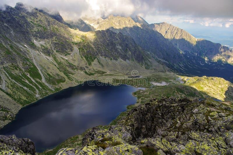 与湖的Hincova谷高Tatras的 斯洛伐克 库存图片