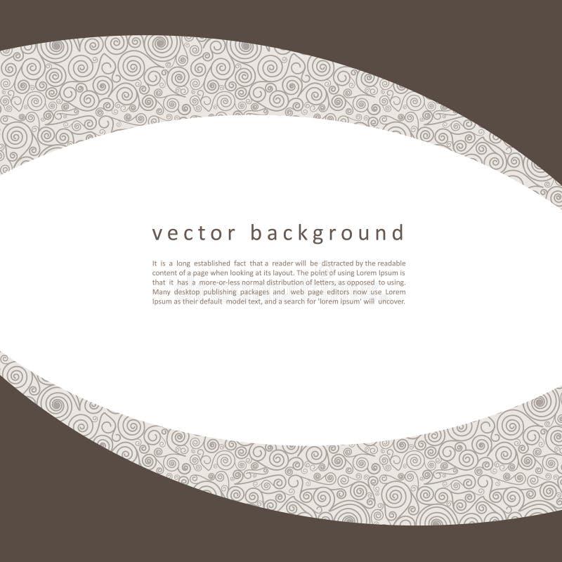 与漩涡的传染媒介抽象无缝的样式 免版税库存照片