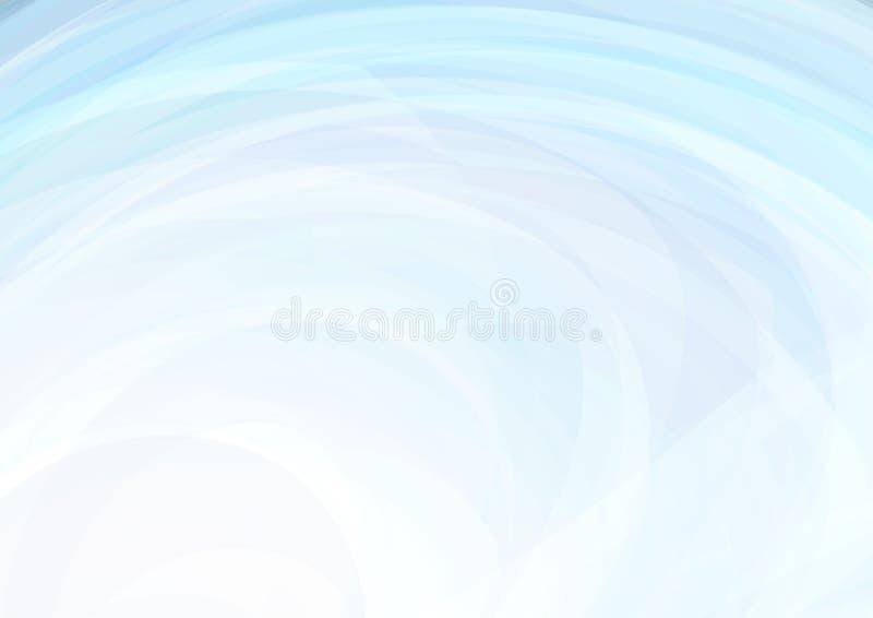 与漩涡的浅兰的背景 微妙的传染媒介样式 向量例证
