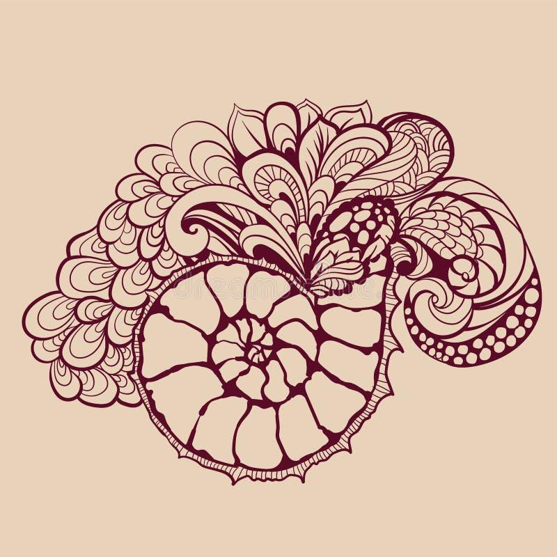 Download 与漩涡的美好的壳 向量例证. 插画 包括有 曲线, 图画, 对象, 高雅, 要素, beautifuler - 59103533