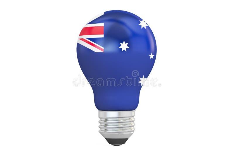 与澳大利亚旗子, 3D的电灯泡翻译 皇族释放例证