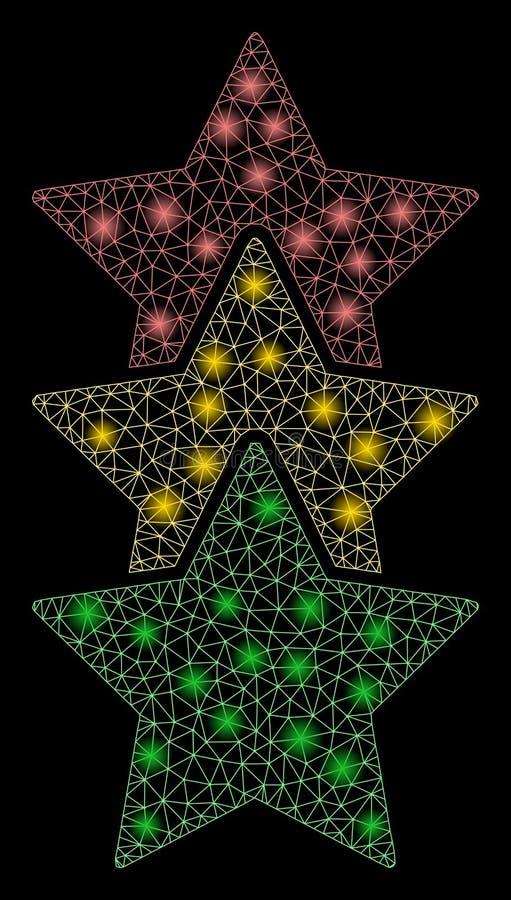 与火光斑点的发光的滤网第2个对估计的星 向量例证