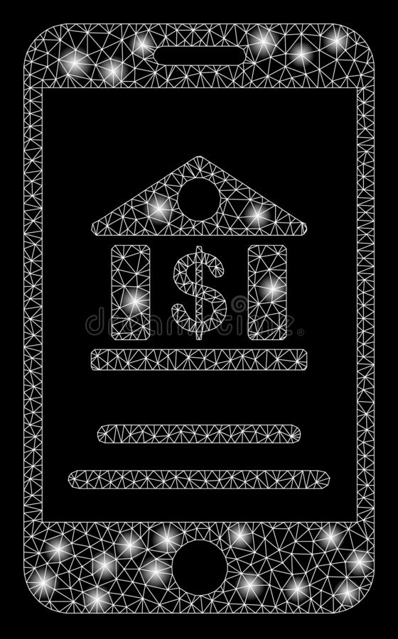 与火光斑点的发光的滤网第2流动银行业务 皇族释放例证
