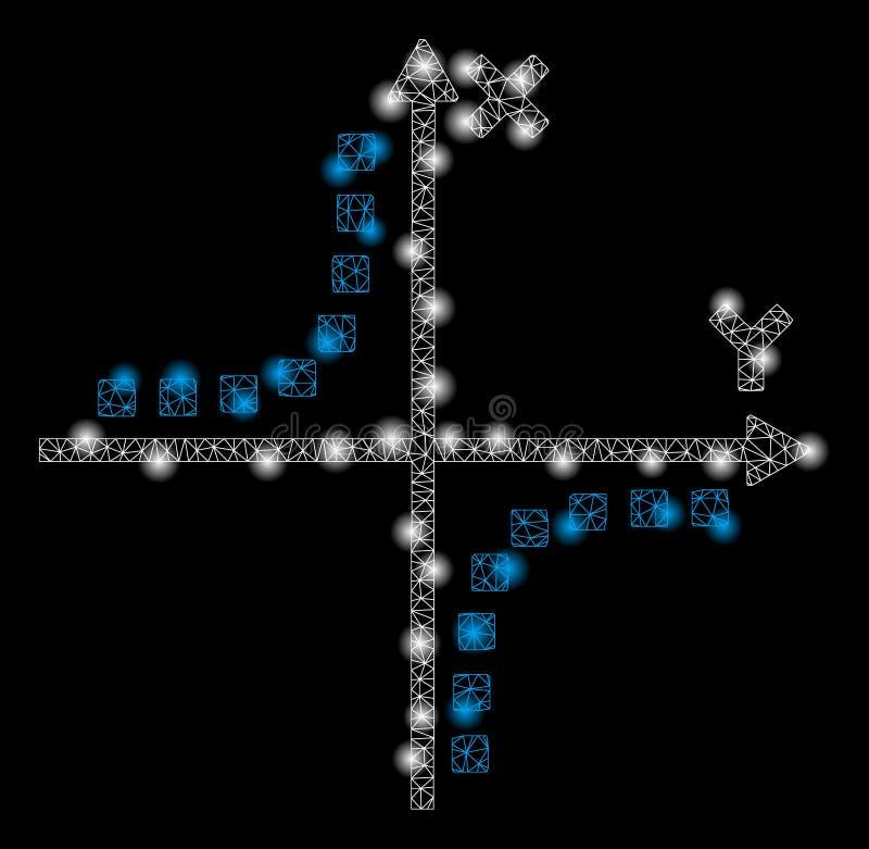 与火光斑点的发光的网状网络双曲线剧情 皇族释放例证