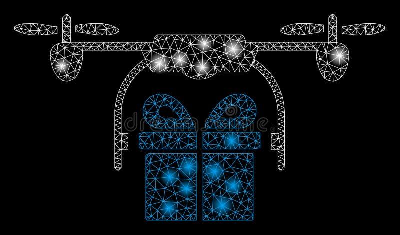 与火光斑点的明亮的滤网尸体寄生虫礼物交付 皇族释放例证