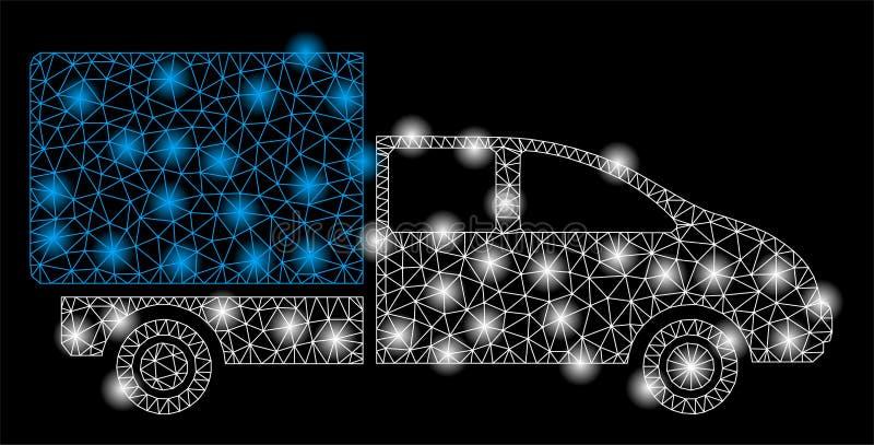 与火光斑点的明亮的网状网络货物 库存例证