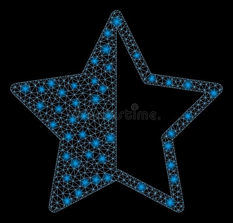 与火光斑点的火光滤网第2个对估计的星 向量例证