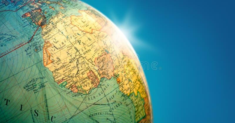 与火光的地球地球 免版税图库摄影