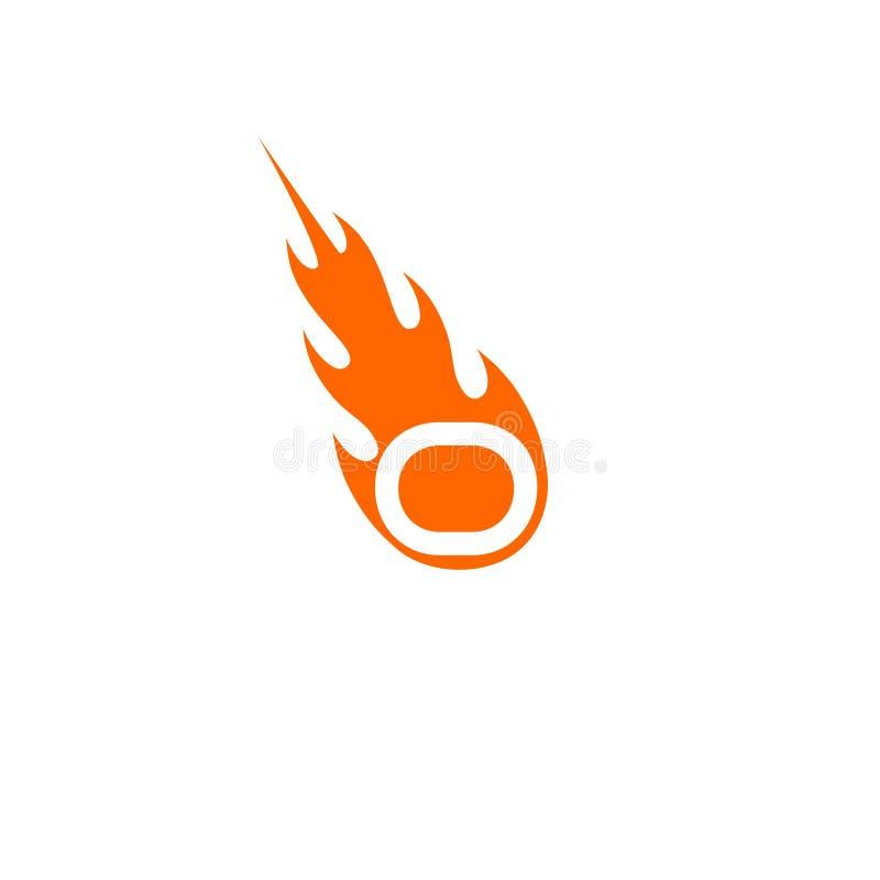 与火焰火商标的O信件 皇族释放例证