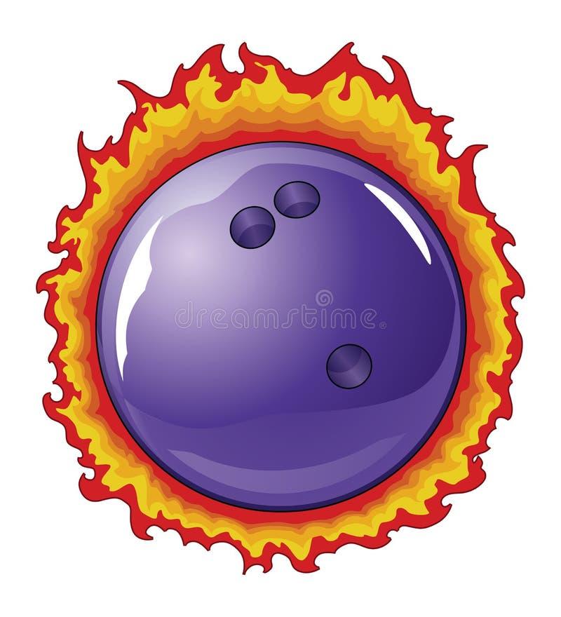 与火焰的保龄球 库存例证