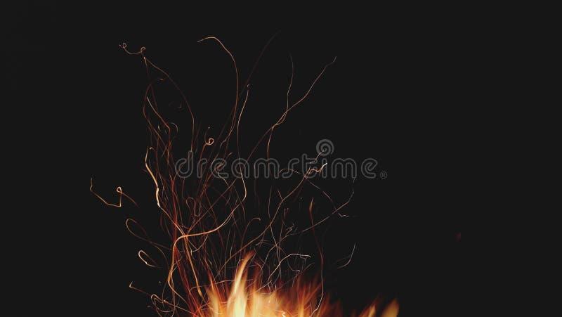 与火的长的曝光 免版税库存图片