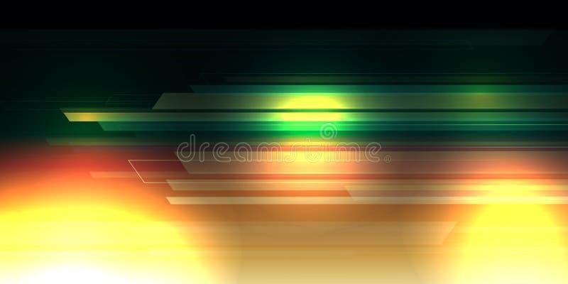 与灯光管制线数字式概念的另外颜色背景摘要 库存例证
