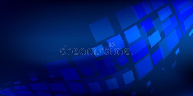 与灯光管制线数字式概念的蓝色背景摘要 皇族释放例证